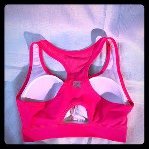 Hot pink women's sports bra.